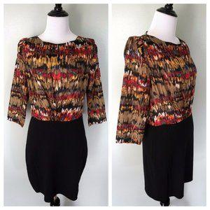 ARYN K Anthropologie Open Back Silk Top Dress
